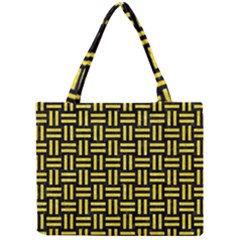 Woven1 Black Marble & Gold Glitter Mini Tote Bag by trendistuff