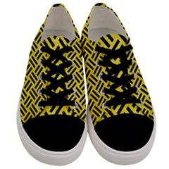 Woven2 Black Marble & Gold Glitter (r) Men s Low Top Canvas Sneakers