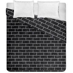 Brick1 Black Marble & Gray Colored Pencil Duvet Cover Double Side (california King Size) by trendistuff