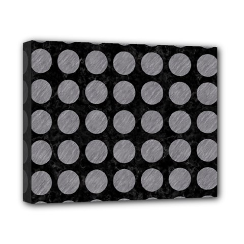 Circles1 Black Marble & Gray Colored Pencilcircle1 Black Marble & Gray Colored Pencil Canvas 10  X 8  by trendistuff