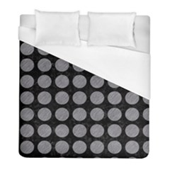 Circles1 Black Marble & Gray Colored Pencilcircle1 Black Marble & Gray Colored Pencil Duvet Cover (full/ Double Size) by trendistuff