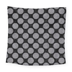 Circles2 Black Marble & Gray Colored Pencil Square Tapestry (large) by trendistuff
