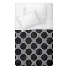 Circles2 Black Marble & Gray Colored Pencil (r) Duvet Cover (single Size)