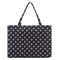 Circles3 Black Marble & Gray Colored Pencil (r) Zipper Medium Tote Bag