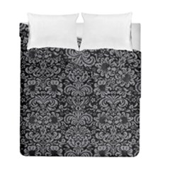 Damask2 Black Marble & Gray Colored Pencil Duvet Cover Double Side (full/ Double Size) by trendistuff