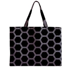 Hexagon2 Black Marble & Gray Colored Pencil Zipper Mini Tote Bag by trendistuff