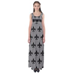 Royal1 Black Marble & Gray Colored Pencil Empire Waist Maxi Dress