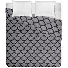 Scales1 Black Marble & Gray Colored Pencil (r) Duvet Cover Double Side (california King Size) by trendistuff