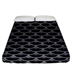 Scales3 Black Marble & Gray Colored Pencil Fitted Sheet (king Size) by trendistuff