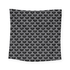 Scales3 Black Marble & Gray Colored Pencil Square Tapestry (small) by trendistuff