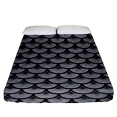 Scales3 Black Marble & Gray Colored Pencil (r) Fitted Sheet (king Size) by trendistuff