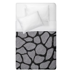 Skin1 Black Marble & Gray Colored Pencil Duvet Cover (single Size) by trendistuff