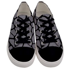 Skin1 Black Marble & Gray Colored Pencil Men s Low Top Canvas Sneakers