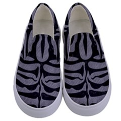 Skin2 Black Marble & Gray Colored Pencil (r) Kids  Canvas Slip Ons