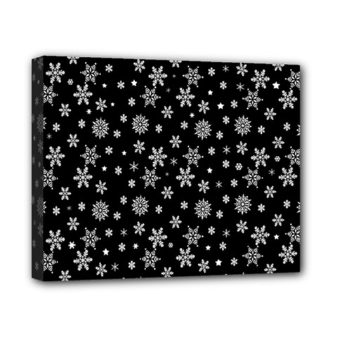 Xmas Pattern Canvas 10  X 8  by Valentinaart