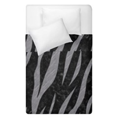 Skin3 Black Marble & Gray Colored Pencil Duvet Cover Double Side (single Size) by trendistuff