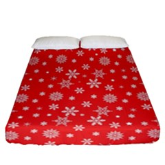 Xmas Pattern Fitted Sheet (queen Size) by Valentinaart