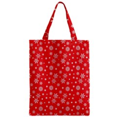 Xmas Pattern Zipper Classic Tote Bag by Valentinaart