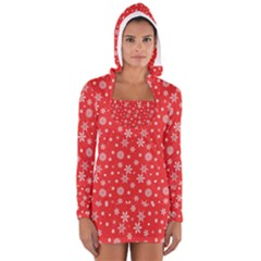 Xmas Pattern Long Sleeve Hooded T Shirt by Valentinaart