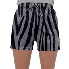 Skin4 Black Marble & Gray Colored Pencil Sleepwear Shorts