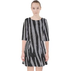 Skin4 Black Marble & Gray Colored Pencil (r) Pocket Dress