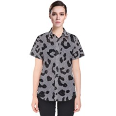 Skin5 Black Marble & Gray Colored Pencil Women s Short Sleeve Shirt