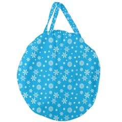 Xmas Pattern Giant Round Zipper Tote by Valentinaart