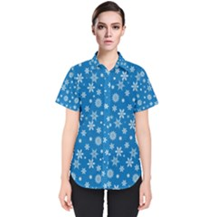 Xmas Pattern Women s Short Sleeve Shirt by Valentinaart