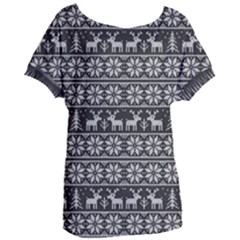 Xmas Pattern Women s Oversized Tee