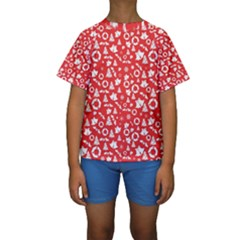 Xmas Pattern Kids  Short Sleeve Swimwear by Valentinaart