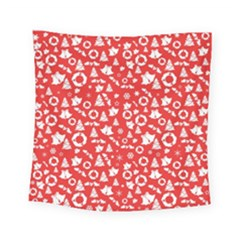 Xmas Pattern Square Tapestry (small)