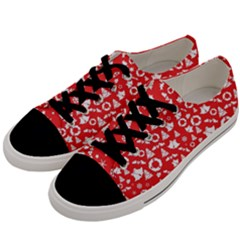 Xmas Pattern Men s Low Top Canvas Sneakers by Valentinaart