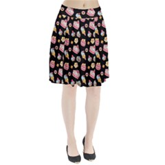 Sweet Pattern Pleated Skirt