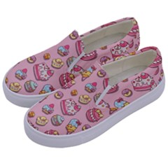 Sweet Pattern Kids  Canvas Slip Ons by Valentinaart