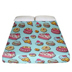 Sweet Pattern Fitted Sheet (california King Size) by Valentinaart