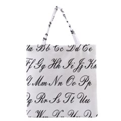 Alphabet Embassy Font Grocery Tote Bag by Mariart