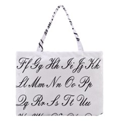 Alphabet Embassy Font Medium Tote Bag