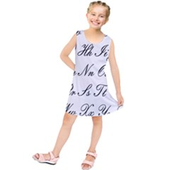 Alphabet Embassy Font Kids  Tunic Dress by Mariart