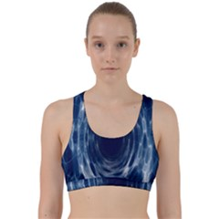 Worm Hole Line Space Blue Back Weave Sports Bra