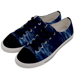 Worm Hole Line Space Blue Men s Low Top Canvas Sneakers by Mariart
