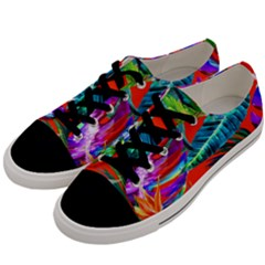 Aloha Hawaiian Flower Floral Sexy Summer Orange Men s Low Top Canvas Sneakers by Mariart