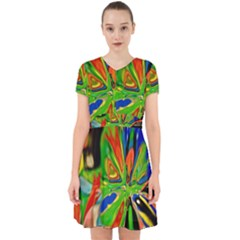 Acrobat Wormhole Transmitter Monument Socialist Reality Rainbow Adorable In Chiffon Dress