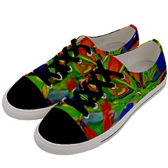Acrobat Wormhole Transmitter Monument Socialist Reality Rainbow Men s Low Top Canvas Sneakers by Mariart