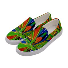 Acrobat Wormhole Transmitter Monument Socialist Reality Rainbow Women s Canvas Slip Ons by Mariart