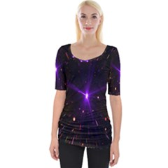 Animation Plasma Ball Going Hot Explode Bigbang Supernova Stars Shining Light Space Universe Zooming Wide Neckline Tee by Mariart