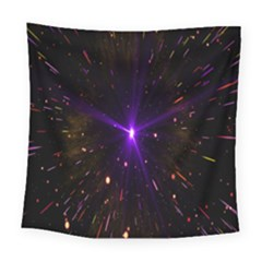 Animation Plasma Ball Going Hot Explode Bigbang Supernova Stars Shining Light Space Universe Zooming Square Tapestry (large) by Mariart