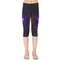 Animation Plasma Ball Going Hot Explode Bigbang Supernova Stars Shining Light Space Universe Zooming Kids  Capri Leggings  by Mariart