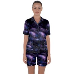 Animation Plasma Ball Going Hot Explode Bigbang Supernova Stars Shining Light Space Universe Zooming Satin Short Sleeve Pyjamas Set by Mariart