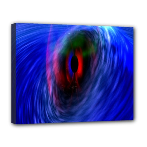 Black Hole Blue Space Galaxy Canvas 14  X 11  by Mariart
