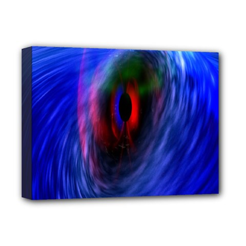 Black Hole Blue Space Galaxy Deluxe Canvas 16  X 12